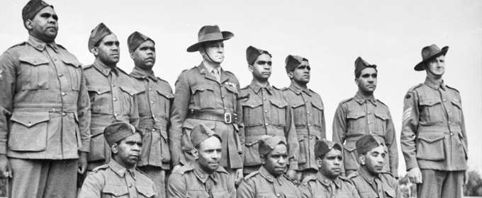 Image : Special platoon of Aboriginal soldiers