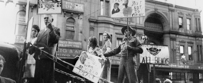 Image : The Australian Aboriginal League float in the 1947 May Day procession