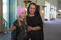 Shae with the Hon Linda Burney MP at the Our Land, Our Stories launch at Parliament House.