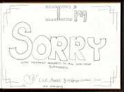 Page from a Sorry Book featuring drawing by young people from Wollongong, New South Wales