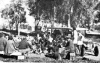 Sunday morning open air service at Bourke, NSW (c1956)