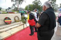 Laying wreaths to commemorate those killed in Frontier Wars