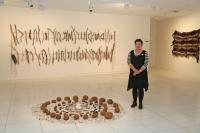 Lee Darroch at her exhibition as part of Wominjeka.