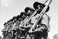 Special platoon of Aboriginal soldiers, all volunteers, at Number 9 camp Wangaratta, Vic. 1940-2