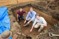 AIATSIS Collections Officer Rob Williams working on the Springbank Archaeology Project