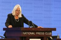 Marcia Langton at the National Press Club in Canberra