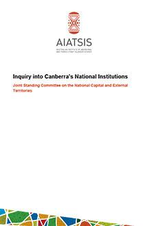 Inquiry into Canberra's National Institutions cover
