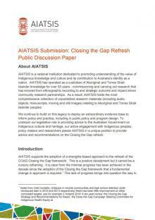 Closing the Gap Refresh Public Discussion Paper cover