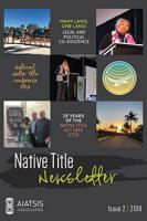 Native Title Newsletter Issue 2, 2018 cover image