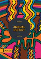 AIATSIS Annual Report 2017- 2018 cover featuring Jimmy Pyke's artwork
