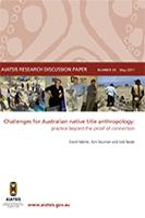 Challenges for Australian native title anthropology cover