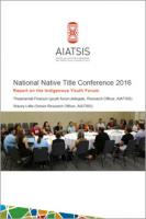 Report on the Indigenous Youth Forum cover