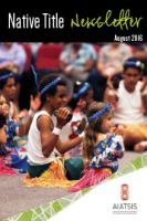 Native Title Newsletter August 2016 cover page
