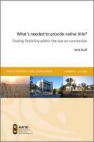 Cover of What's needed to prove native title