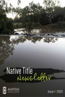 Native Title Newsletter - Issue 1, 2020 cover