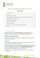 What's New in Native Title - May 2015 cover