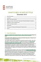 What's New in Native Title December 2016 cover page