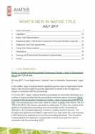 What's New in Native Title - July 2017