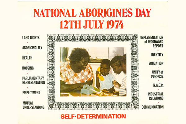 National Aborigines Day 1974 poster
