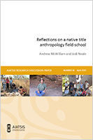 Reflections on a native title anthropology field school cover